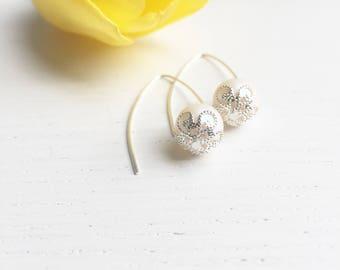 Bridal Earrings Pearl, Bride Earrings, Pearlescent White, Pearl Dangle Earrings, Elegant Pearl Earrings, Maid Of Honor Gifts, Wedding Day