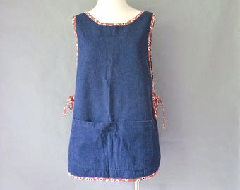 vintage handmade denim apron size S/M/L
