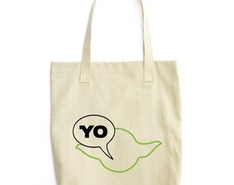 Star Wars Tote Bag, Funny Yoda Bag, Star Wars Gift, Star Wars Bag, Jedi Bag, Funny Tote Bag, Cotton Tote, Movie Parody Tote, Unique Bag