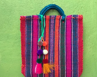 Mexican Stylish shopping Bag with pompons