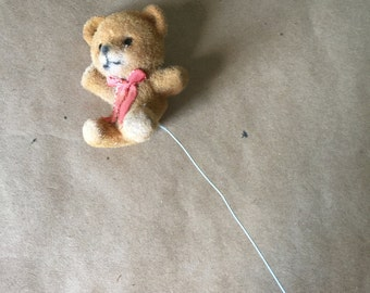 Fuzzy Teddy Bear on Wire for Crafting