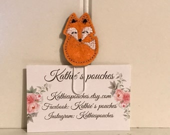 "Sweet little Feltie - Paperclip, Bookmark ""Fox"""