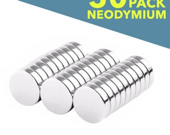 50 Pack - 5mm Neodymium Magnets - Tiny 3/16 Inch Diameter - Craft Magnets Super Strong Skinny Magnets