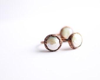 Pearl Ring - Freashwater Pearl Ring - Medallion Pearl Ring