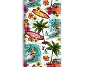 Surfer iPhone Case, Surfing iphone case, California iphone 6 case, Hawaii iphone 6 case, Surf iphone 6s case, Palms iphone case