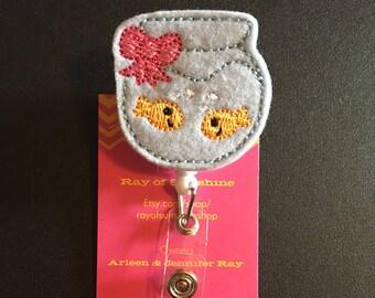 Fish fishbowl ID badge reel holder retractable clip