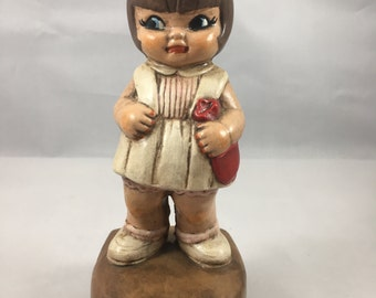 Vintage Adorable 1970s Ceramichrome Chubby Little Toddler Nurse Figurine