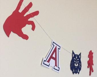 U of A / University of Arizona Garland / Bunting / Decorations