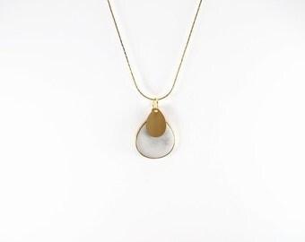 Cement filled bezel, concrete filled bezel, teardrop pendant, cement necklace, concrete necklace, cement jewelry, concrete jewelry, beton