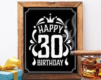 30th birthday banner Etsy