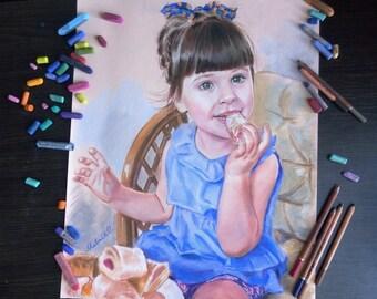 Children Custom Portrait Oil painting Custom portrait from photo Custom portrait painting Commission portrait-child portrait Family portrait