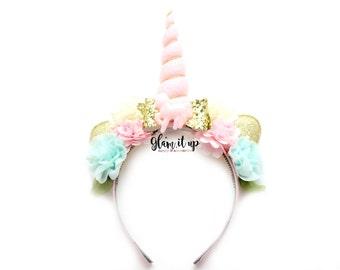 Unicorn Headband-Unicorn headband Diy-headband-Baby Headband-Toddler Headband- Hair Bows- headbands-Diy Kit-Unicorn Headband Kit
