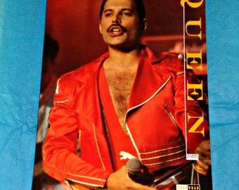 Queen Copyright Approved 1991 Calendar Music Memorabilia Collectable Full Page Photos Freddie Mercury Brian May Roger Taylor John Deacon