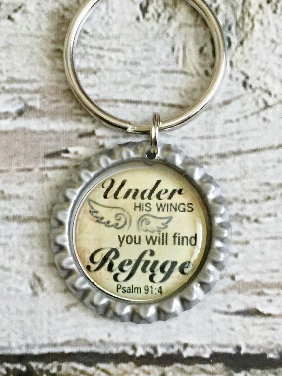 Bible scripture keychain christian accessory psalm 914 like this item negle Image collections