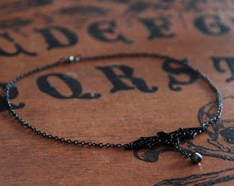 SALE black bat necklace