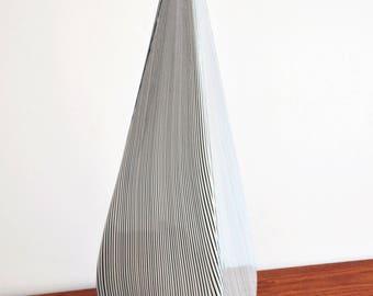 Mid Century Modern Vintage TALL Tagliapietra Effetre Murano Pyramid Table Lamp