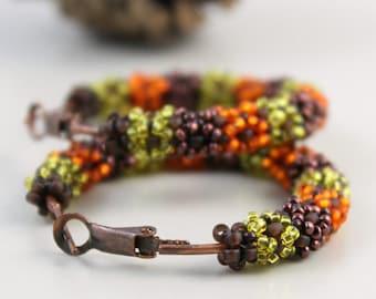 Seed Beads Earrings, Beadwork Earrings, Beadwork Jewelry, Large Hoop Earrings, Big Earrings, Big Hoops, Bohemian Jewelry, Beadwoven Jewelry