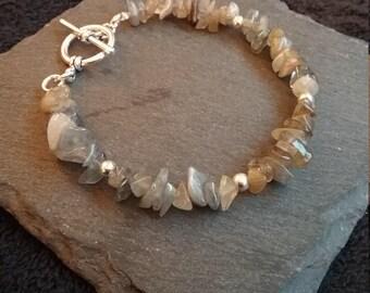 Natural Gemstone Chip Bracelet