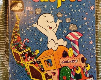 casper the friendly ghost comic issue 136//1969//harvey comics//vintage comics//very fine condition