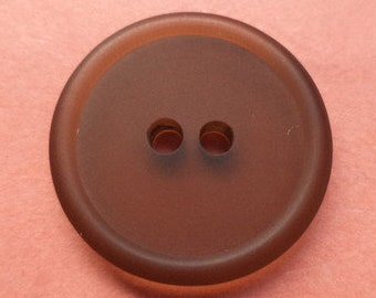 10 buttons dark brown 15mm 18mm (3171 3172) Brown