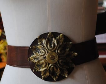 Leather belt and bronze 1970