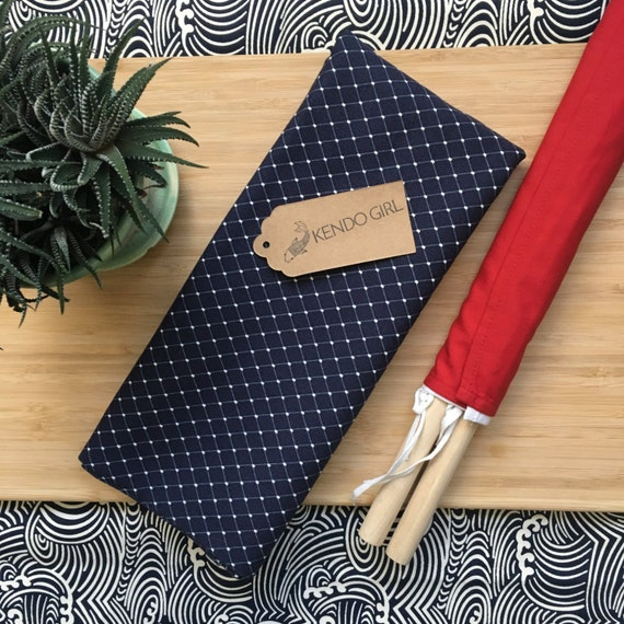 Kendo Shinpan Ki Judge Flag Bag for Shinpan – Cross Stitch Design by Kendo Girl