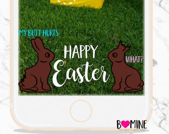 EASTER SNAPCHAT GEOFILTER, Custom Snapchat Filter, Easter Basket, Finny Snapchat, Funny Easter, Instant Download, Holiday Snapchat Filter