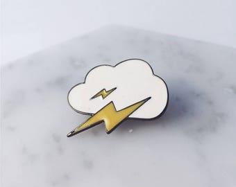 Lightning bolt pin; lightning pin; weather;