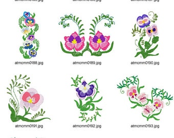 Pansies ( 10 Machine Embroidery Designs from ATW )
