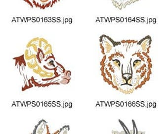 American-Animals-Modular-Line ( 10 Machine Embroidery Designs from ATW ) XYZ17D