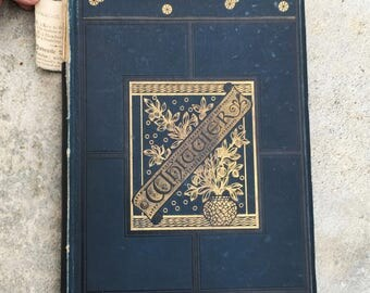 John Greenleaf Whittier, Antique Illustrated Poetry Book, 1880, American History