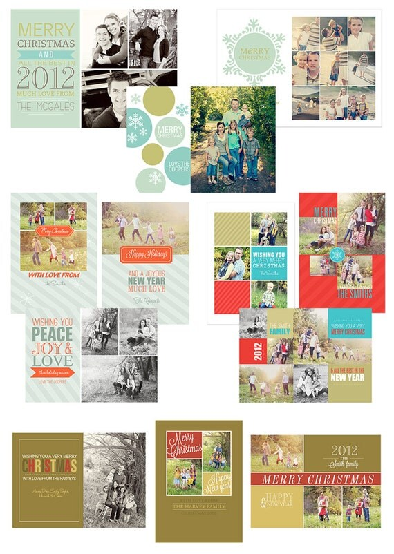 simple as that digital holiday card template collection