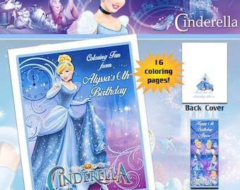 Cinderella  Coloring Book with Crayons