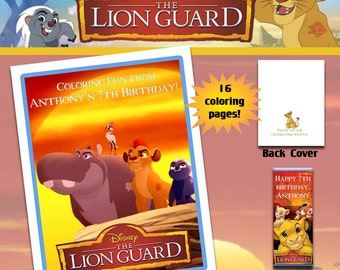 The Lion Guard Coloring Book with Crayons/Birthday Party Favor/Personalized Favors