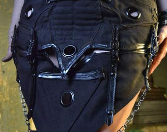 The Alchemist SceneSick Custom Goth Wasteland Post Apocalyptic Horror Punk Unisex Battle Black Metal Skirt!