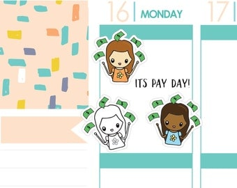 Pay Day Girls | Planner Stickers
