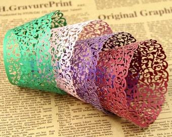 12 paper lace doilies
