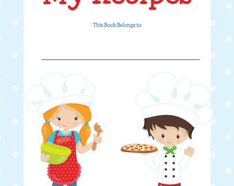 Kids Recipe Binder, Kids Cookbook, Recipes for Kids, Kids Recipe Organizer