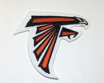 """Atlanta Falcons embroidered iron on patch 3.5"""" Left facing"""