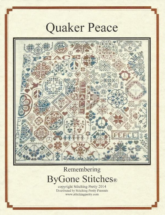 Quaker Peace Cross Stitch Pattern From Bygone Stitches