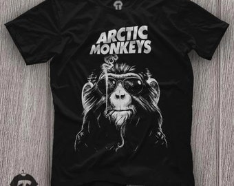 Arctic Monkeys  Smoke Monkey Unisex T Shirt Graphic Tee Size S M L XL 2XL