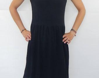 Jersey dress, summer dress, 90 s, layer look, tulle, transparent