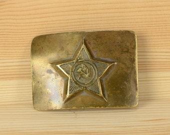 Buckle soviet army, vintage buckle, Soviet Memorabilia, military buckle, soviet uniform, soldier belt, soviet belt buckle, soviet  buckle.
