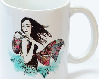 Eva color babywearing mom mug