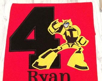 Bumblebee transformer shirt, Transformer birthday shirt - Transformer - Bumblebee - custom kids shirt