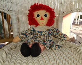 """Adorable Raggedy Ann doll 17"""" tall"""