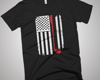 Golf Golfer Club USA American Flag T-Shirt
