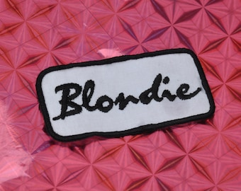 Embroidered Blondie Patch