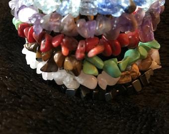 wired bracelet gem stone
