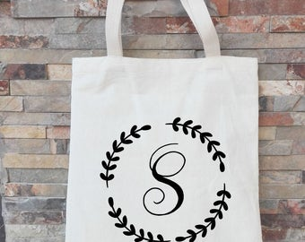 Monogrammed Tote Bags, Bridesmaid Totes, Personalized Gifts for Bridesmaids, Tote Bags, Initial Tote Bags, Bridesmaid Initial Gift